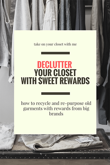 declutter closet recycle clothes worn wear
