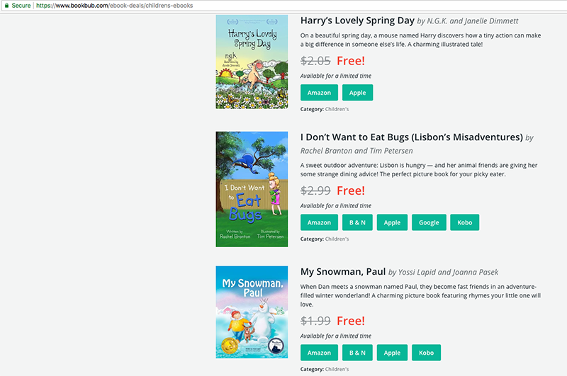 baby shopping websites: deals on eBooks - BookBub