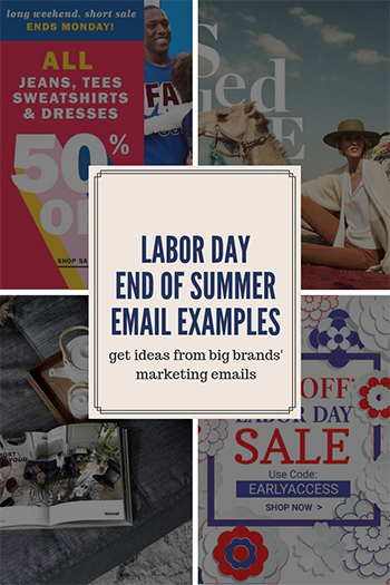 Labor Day Sale Email Examples / End of Summer Sale Email Examples
