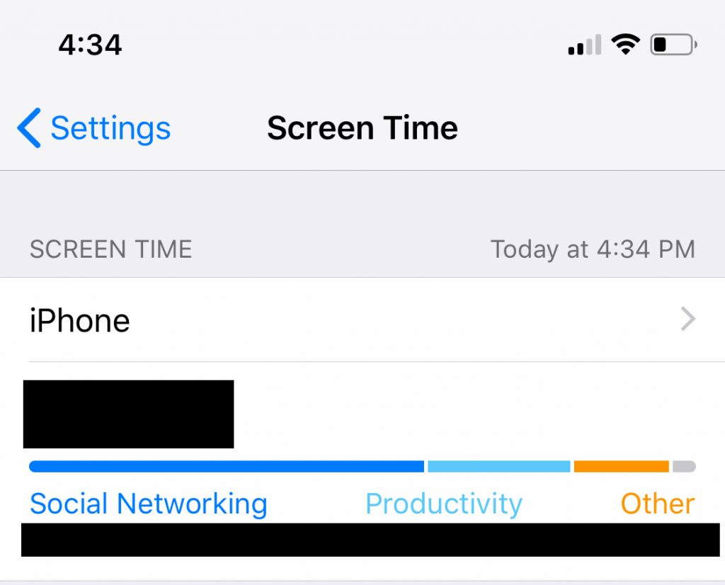 my screen time