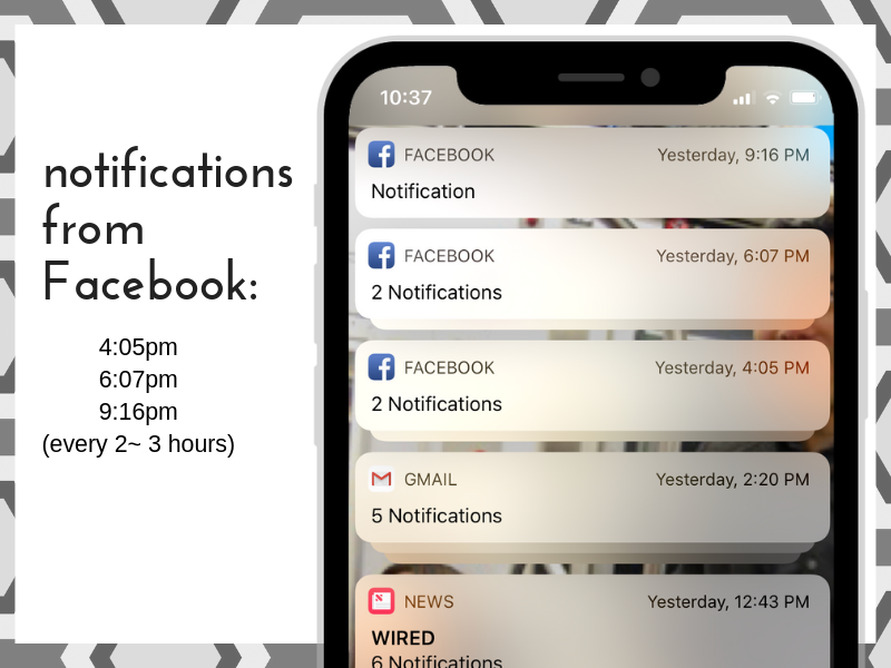 declutter digital life - social media notifications come every two to three hours